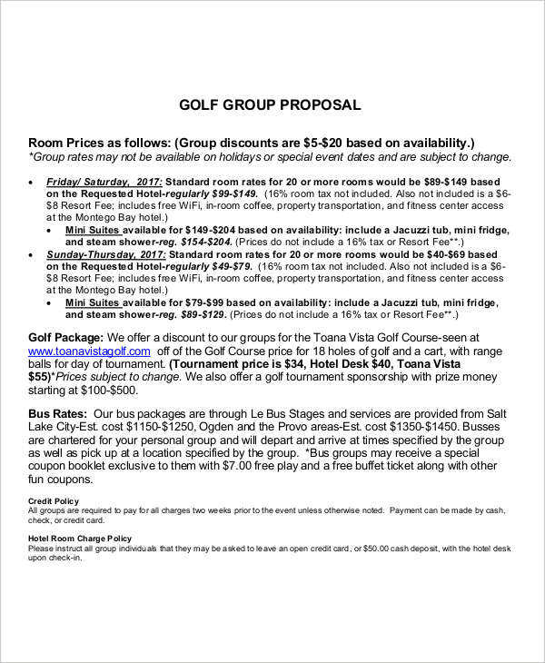 10 Group Proposal Examples PDF