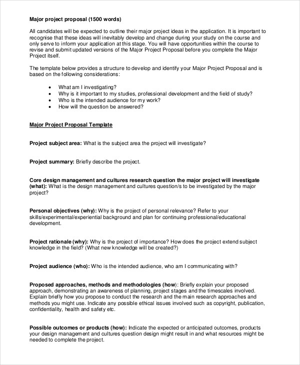 56 Proposal Examples PDF Examples