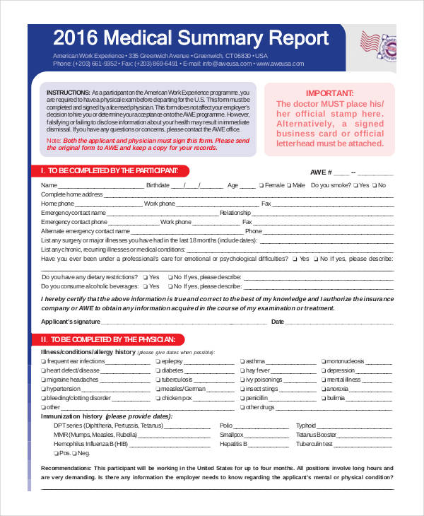 7 Medical Report Examples Samples  Examples