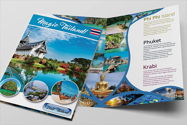 14 Travel Brochure Designs & Examples PSD AI Vector