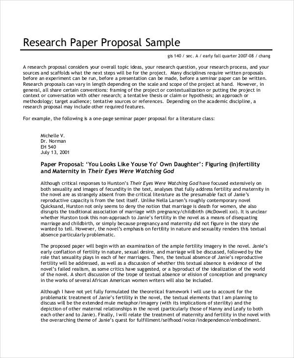 34 Simple Proposal Formats Examples PDF DOC