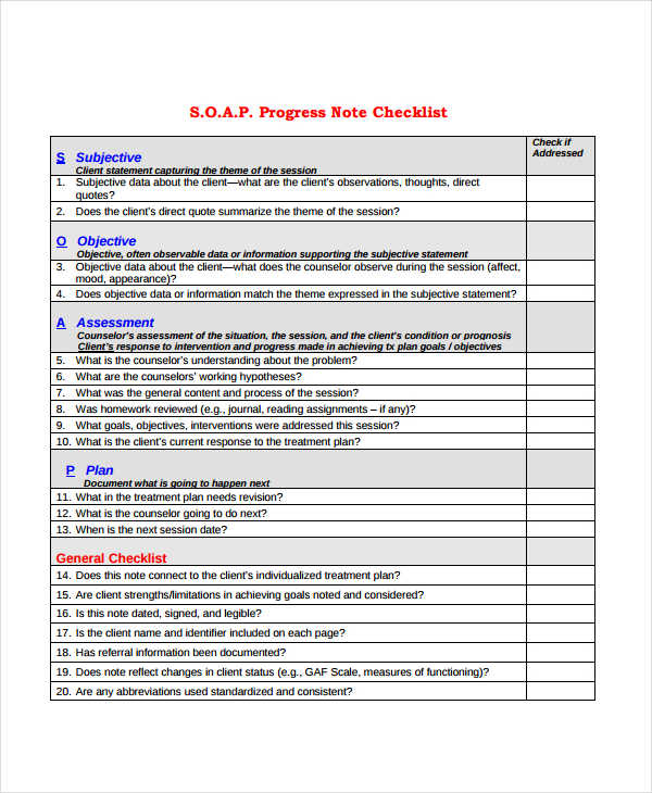 19 Progress Note Examples  Samples  PDF DOC  Examples