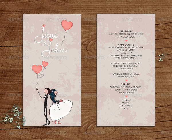 FREE 21 Wedding Menu Examples In Word PSD AI EPS Vector Illustrator InDesign Pages