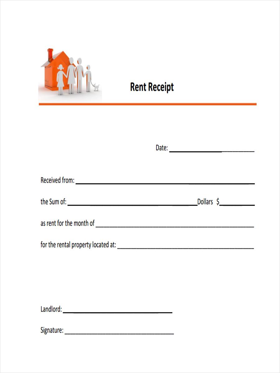 sample rent receipts