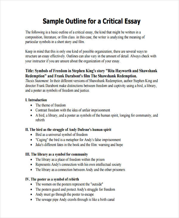 Sample Essay Outline Of Essay Outlines Ideas Collection How To Make
