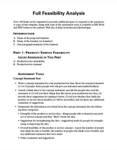 Organizational feasibility analysis example also examples  samples rh