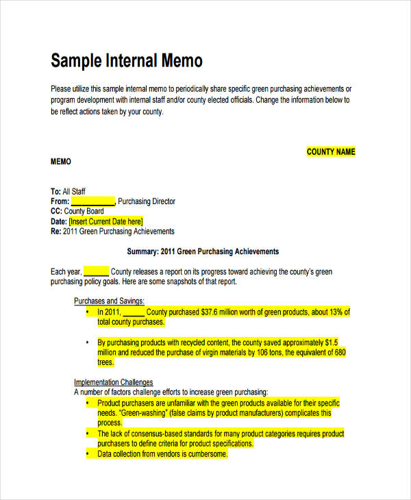 FREE 15 Formal Memo Examples Amp Samples In Google Docs Word Pages PDF Examples