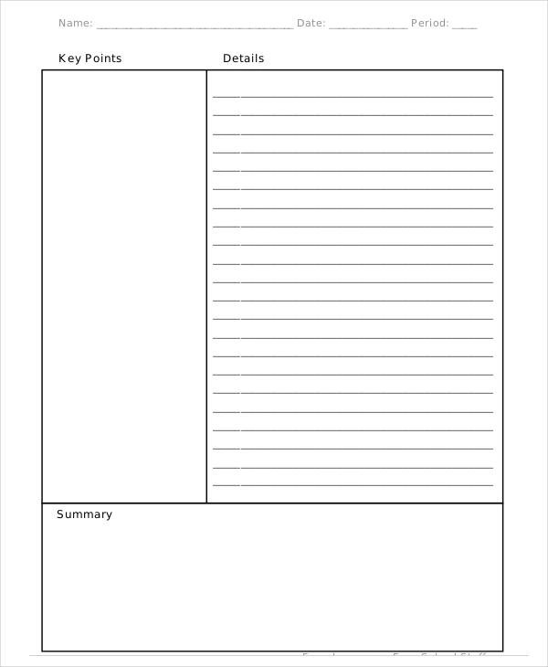 FREE 8 Cornell Note Examples Samples In PDF Examples