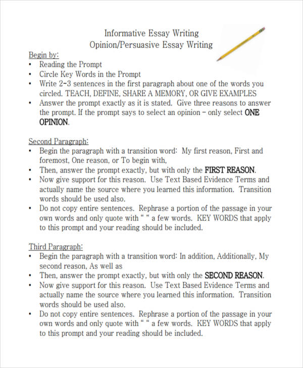 21 Essay Writing Examples  Examples