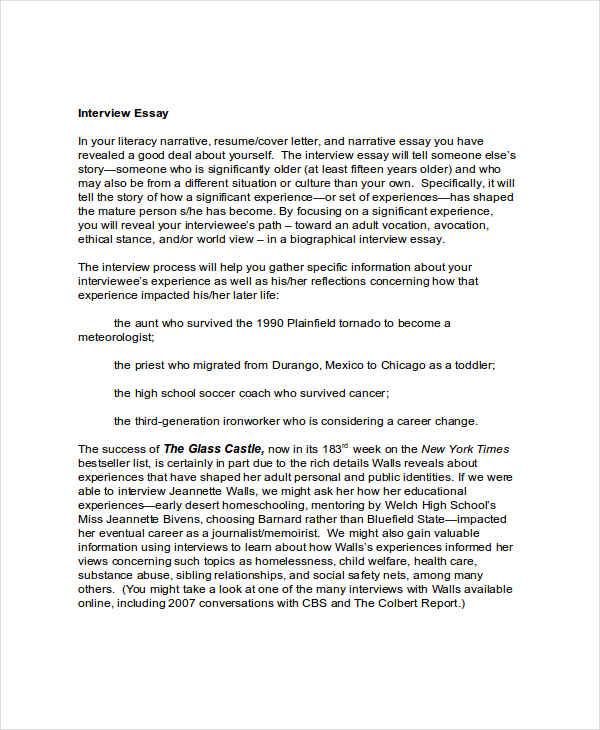 Written Essay For Job Interview Job Interview Essay