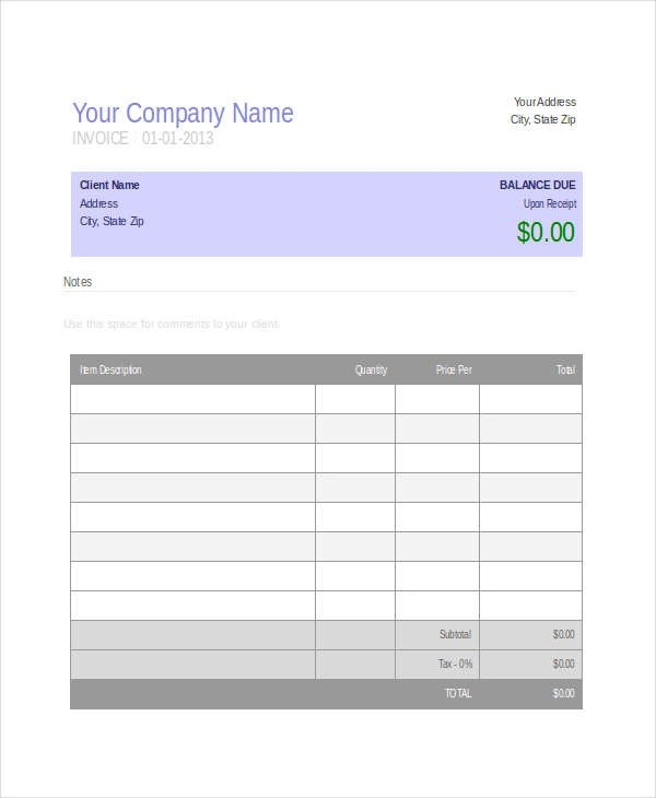 4+ Medical Invoice Examples & Samples