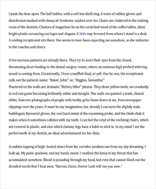 Model Descriptive Essay Descriptive Writing Samples English Essay