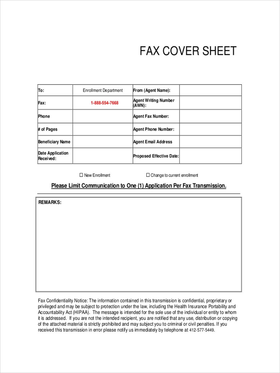 fax cover sheets free