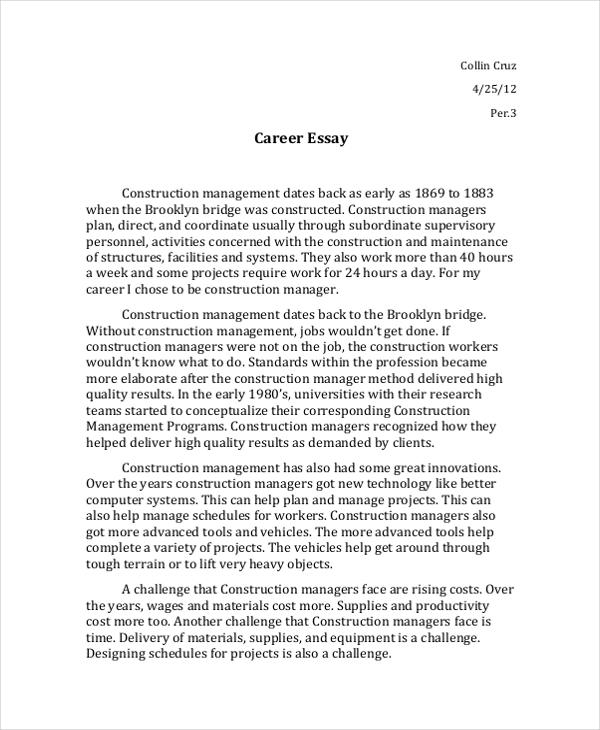 sample interview essays