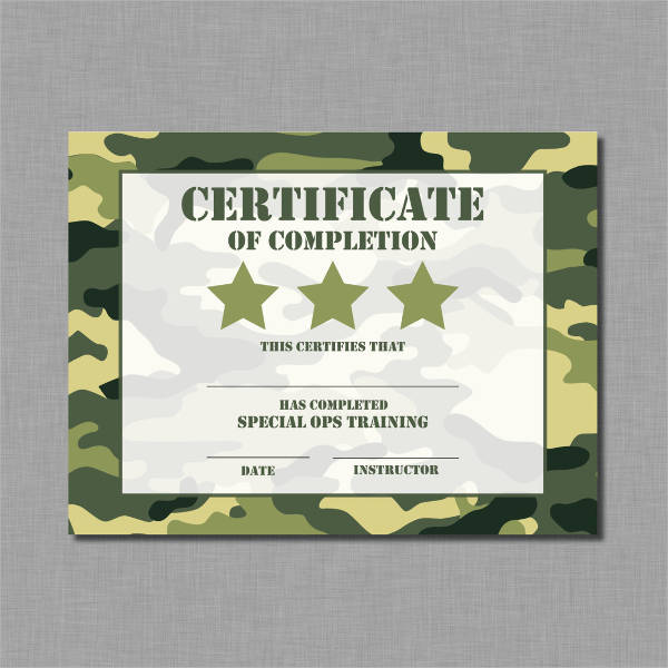 sample of certificate of training completion