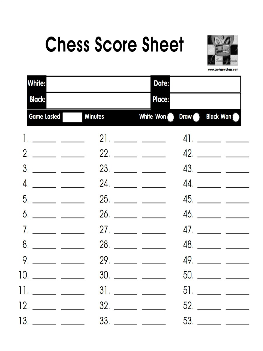8+ Score Sheet Examples, Samples