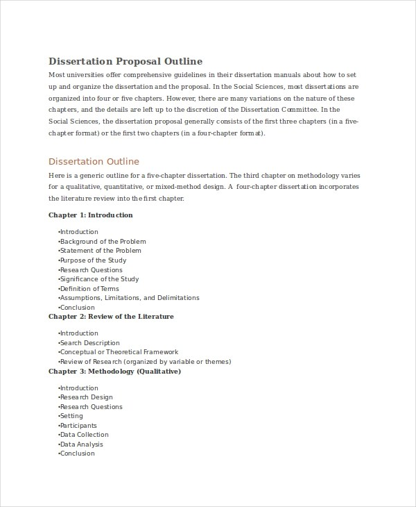 6 Dissertation Proposal Examples & Samples