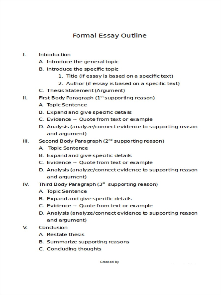 Formal Essay Format Best Photos Of Formal Paper Example Formal Essay