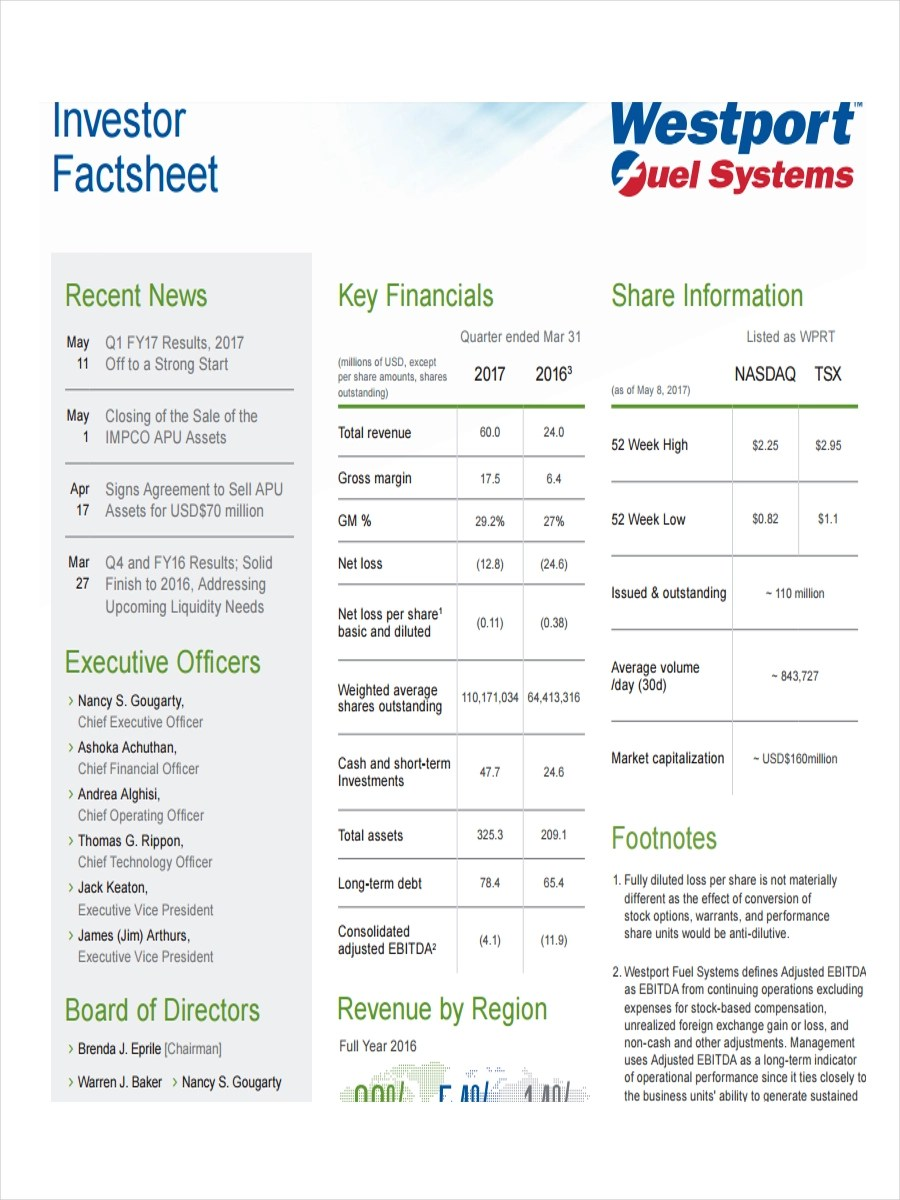 19 Examples of Fact Sheets