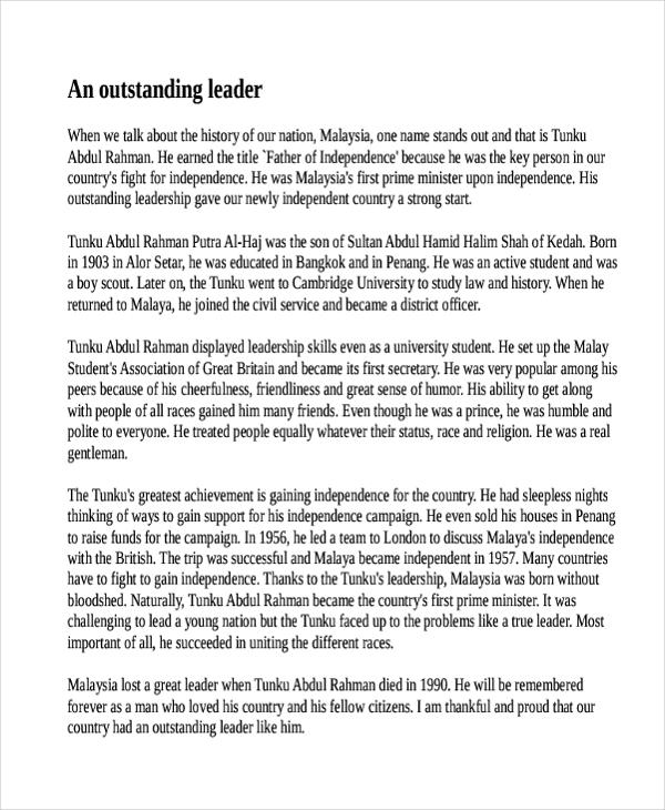 good leader essay