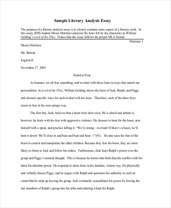 Examples Of A Critical Analysis Essay Hospi Noiseworks Co