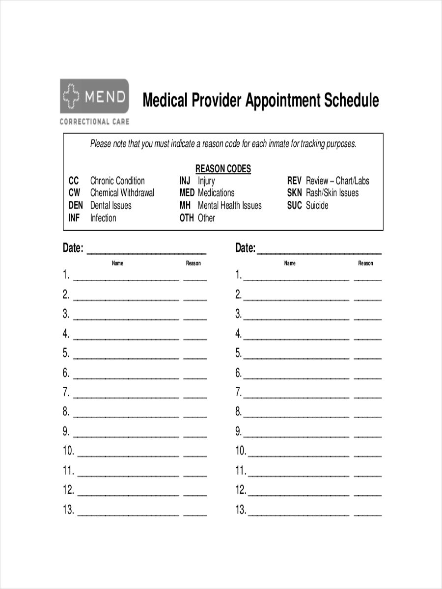 html appointment calendar