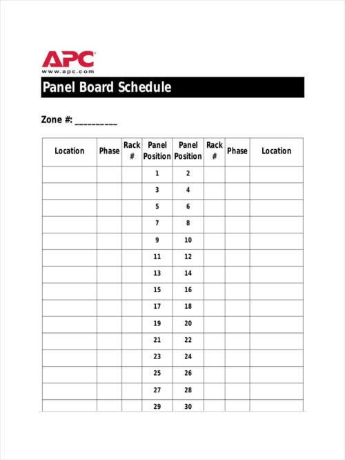small resolution of panelboard schedule