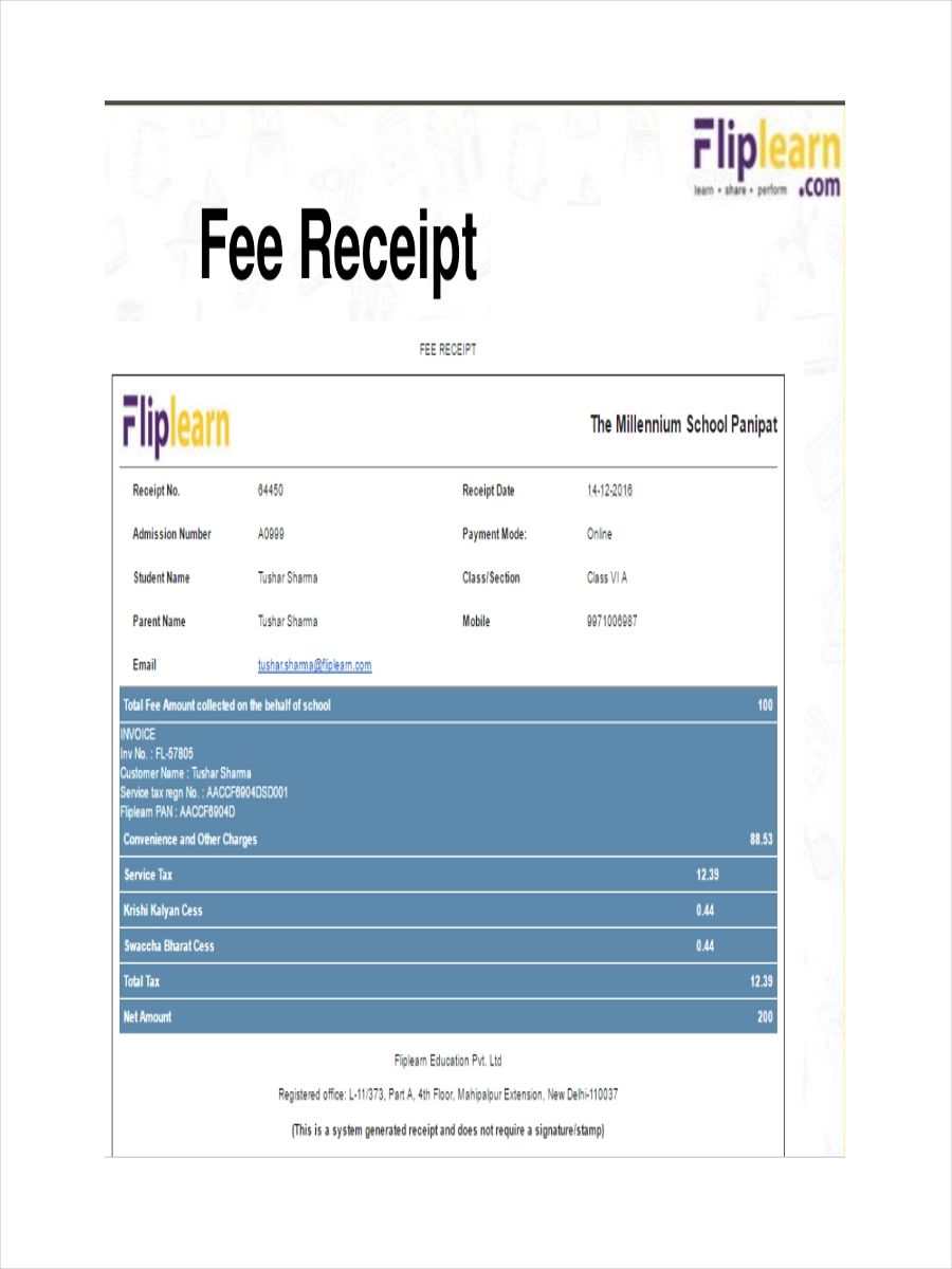 invoice format in word doc