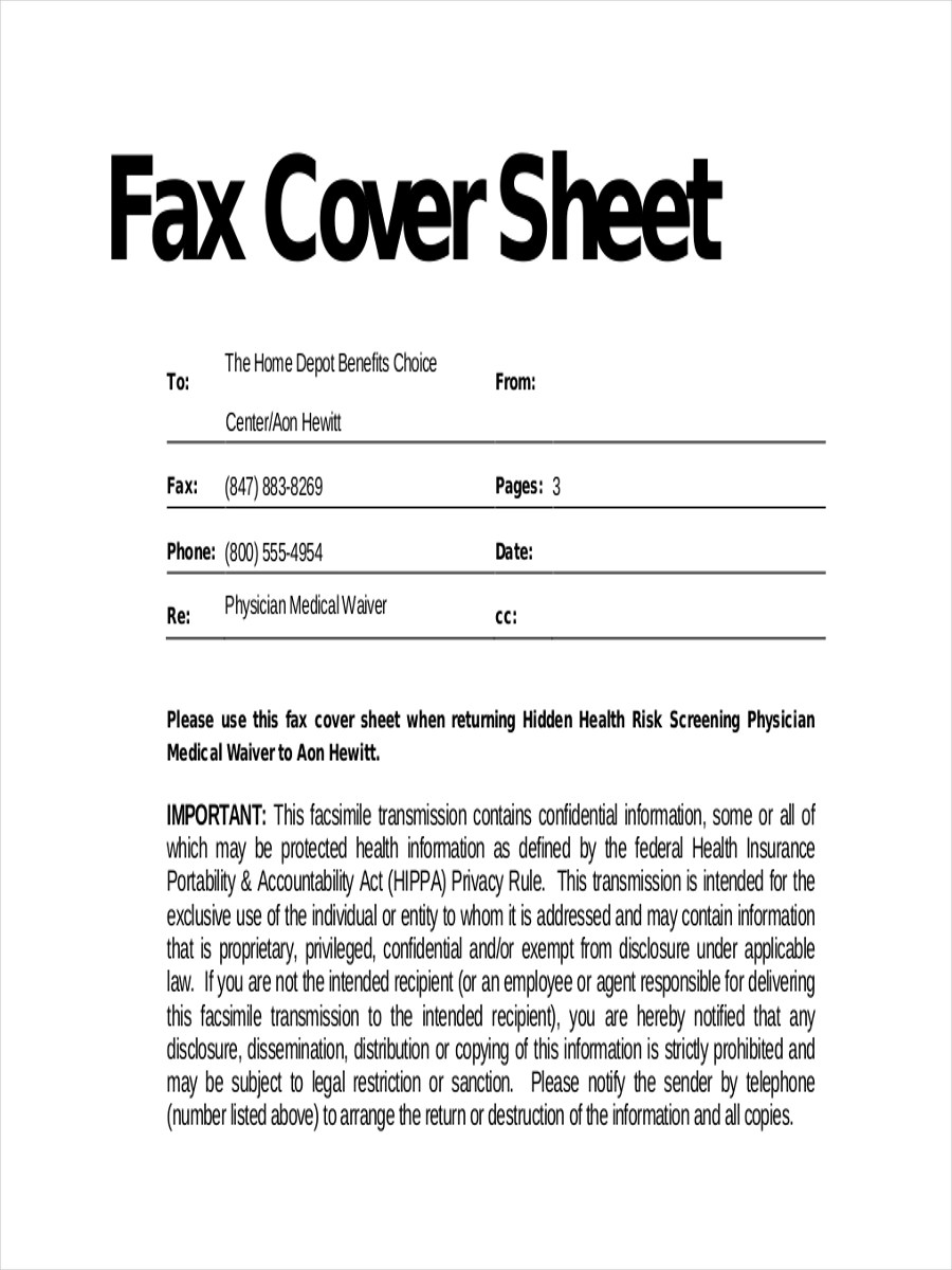 11 Fax Cover Sheets Examples  Samples  Examples