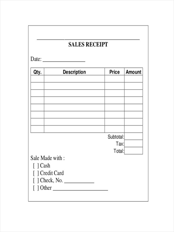 10 Sales Receipt Examples Samples PDF Word Pages
