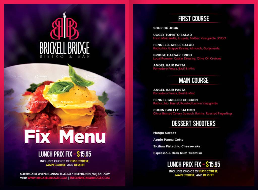 How To Design A Must See Restaurant Menu Brochure