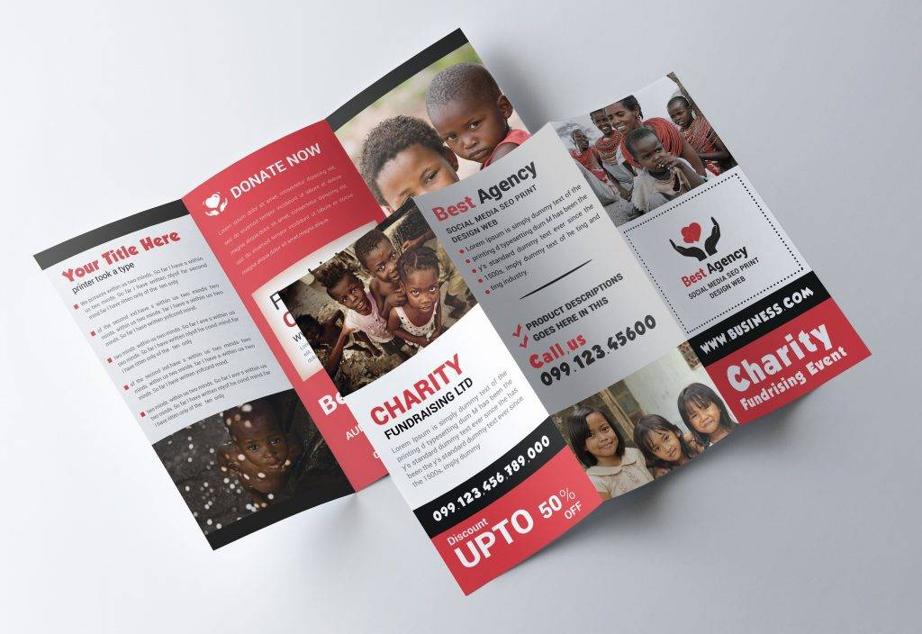 15 Nonprofit Brochure Examples Editable PSD AI