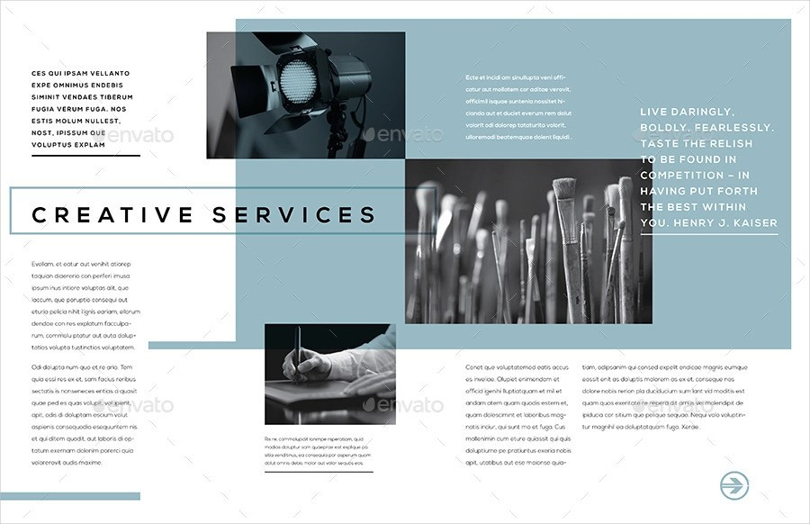 9 Examples Of Service Brochures Editable PSD AI Format Download