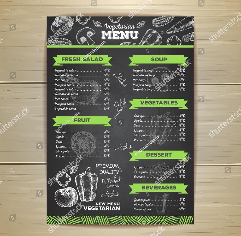 chalkboard design template