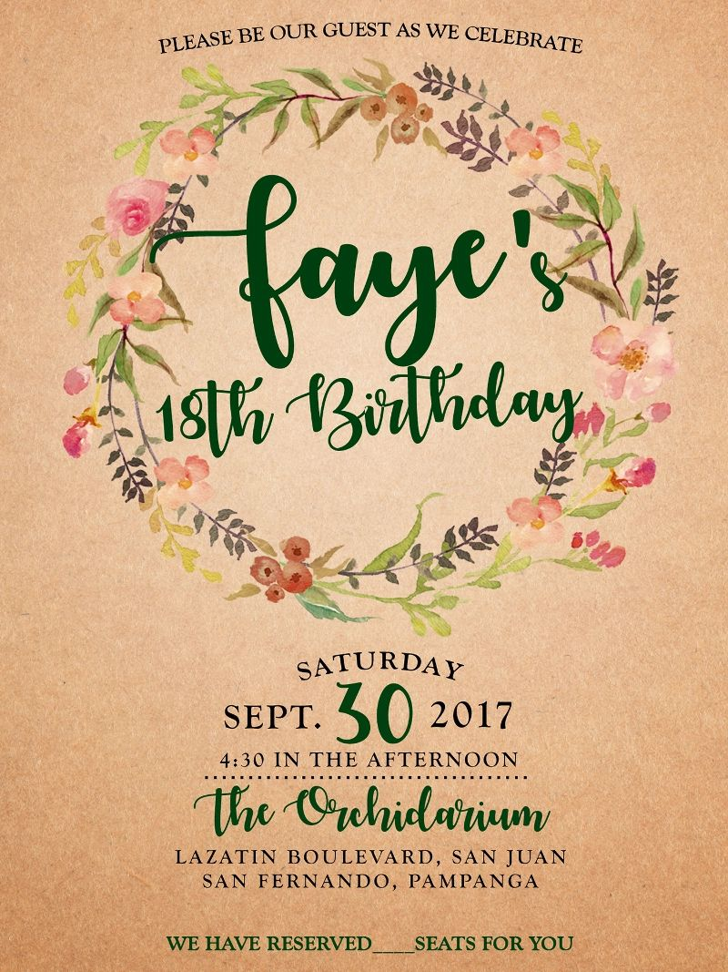 birthday invitation card online