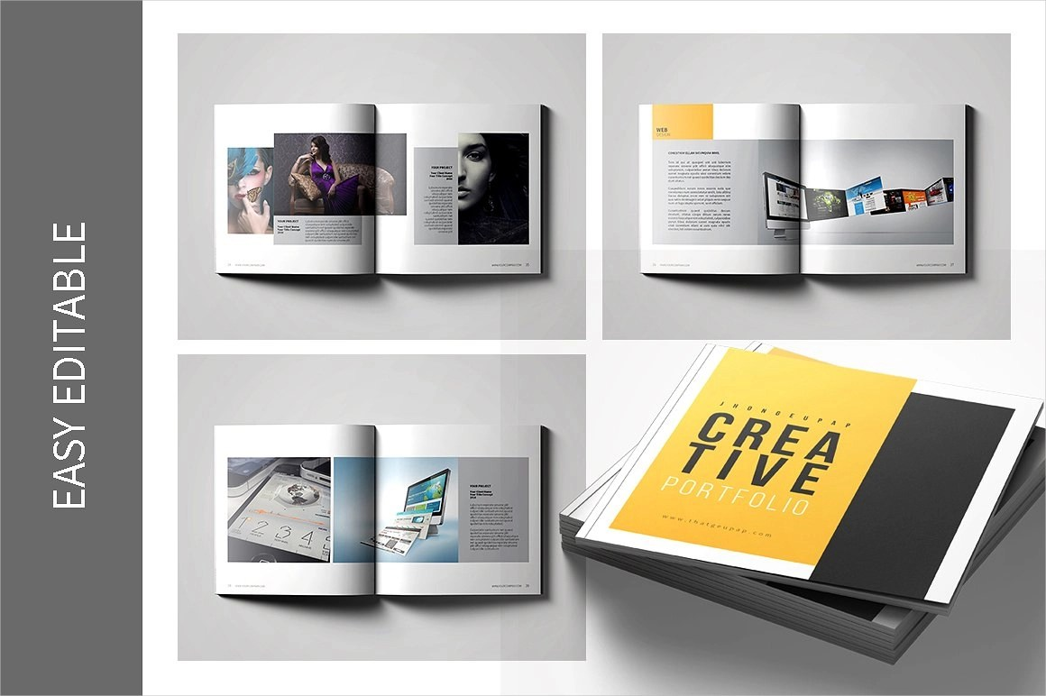 9 Graphic Design Portfolio Examples Editable PSD AI InDesign