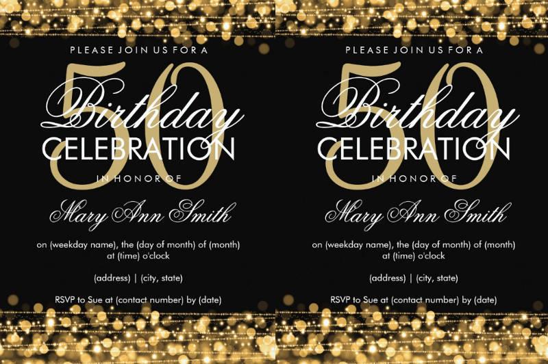 50th birthday invitation designs