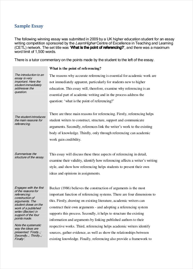 Evaluation Essay Pdf Format Evaluation Essay Sample In Pdf