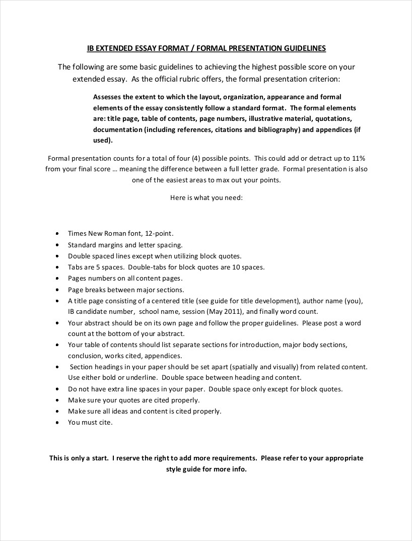 9 Samples of Formal Essays  Free PDF Format Download  Examples