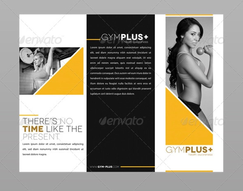 12 Gym Brochure Designs & Examples PSD AI EPS Vector