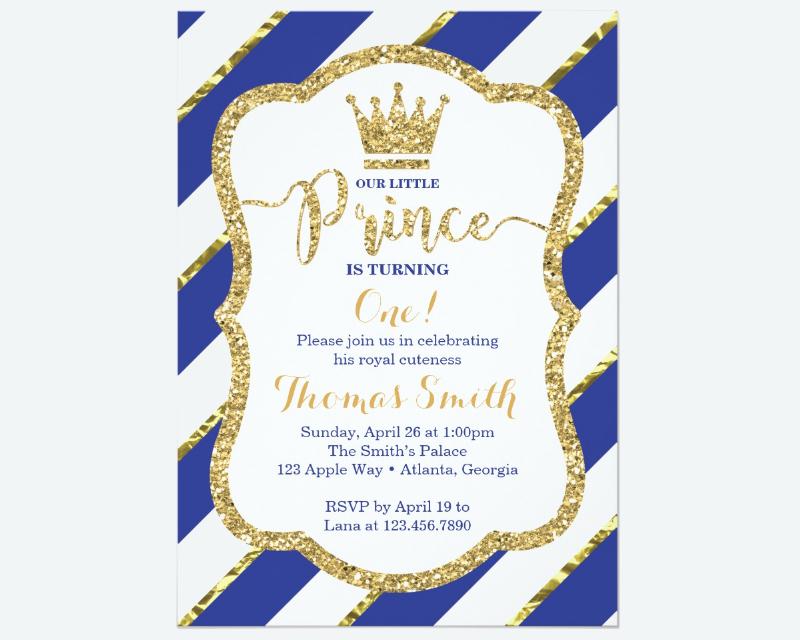 prince birthday invitation designs