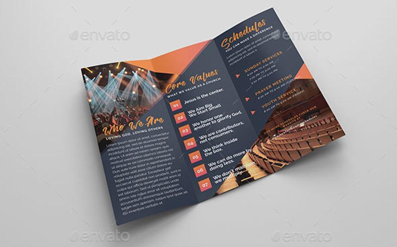 12 Church Brochure Designs & Examples PSD AI EPS Vector