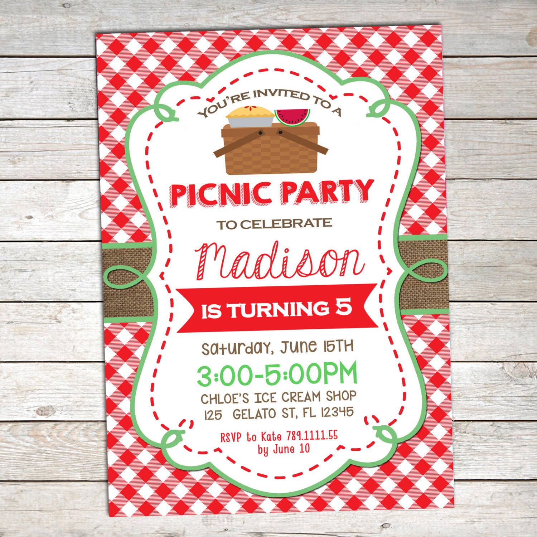 picnic invitation designs examples in
