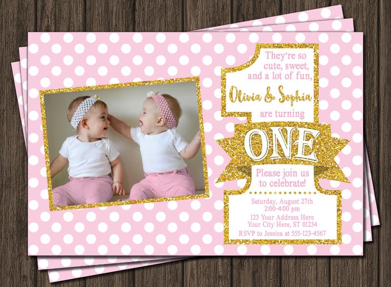 twin birthday invitation designs