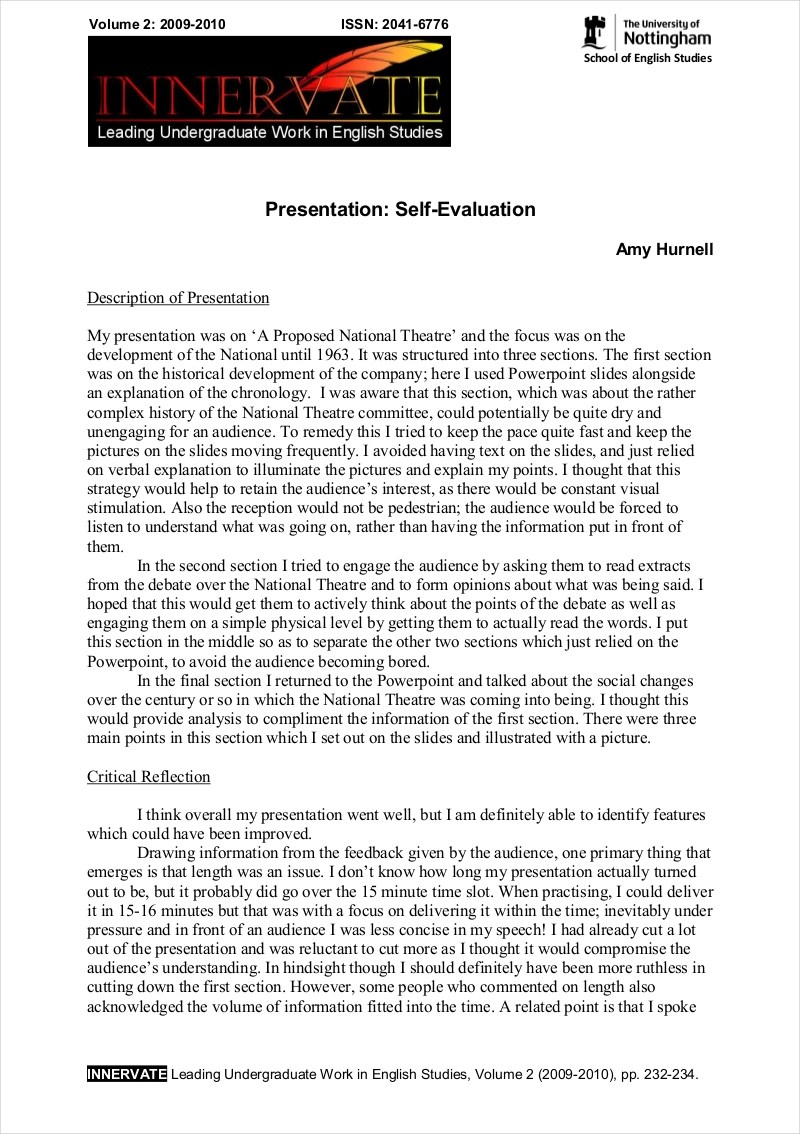 Examples Of Critical Appraisal Essays 9 Evaluation Essay Examples Free Pdf Format Download Examples