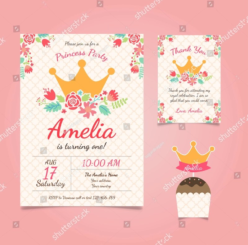 princess birthday invitation designs