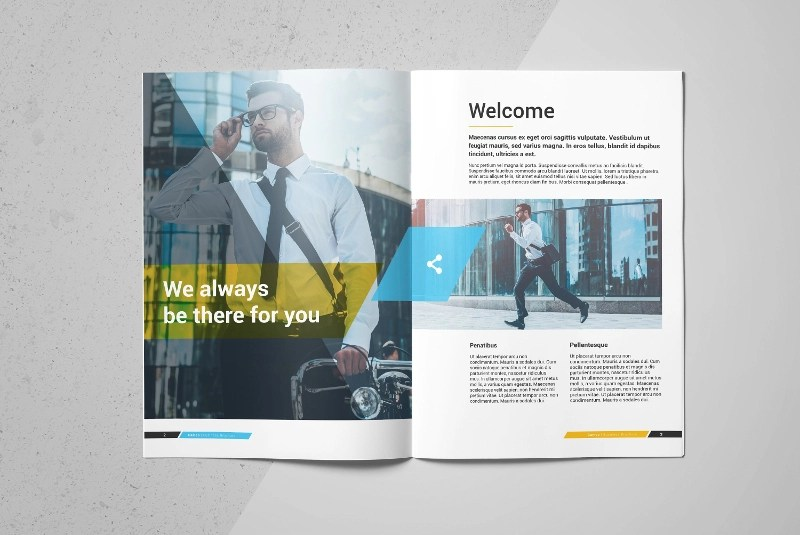 16 Small Business Brochure Designs & Examples PSD AI