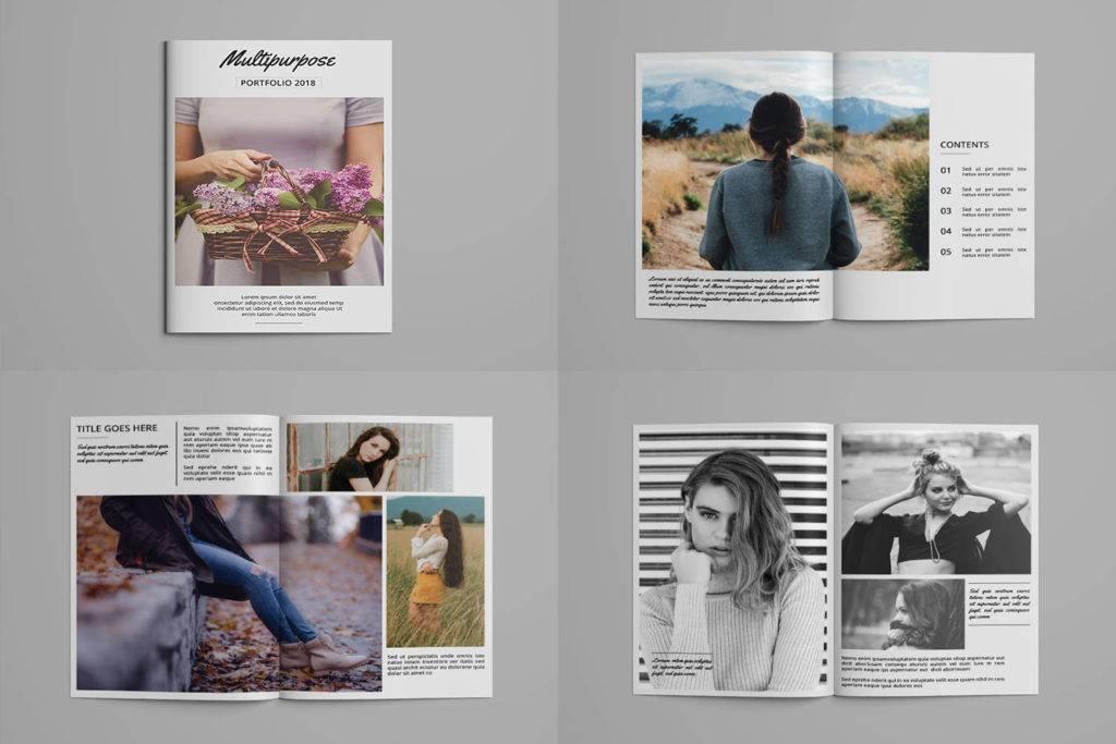 14 Fashion Design Portfolio Examples Editable PSD AI