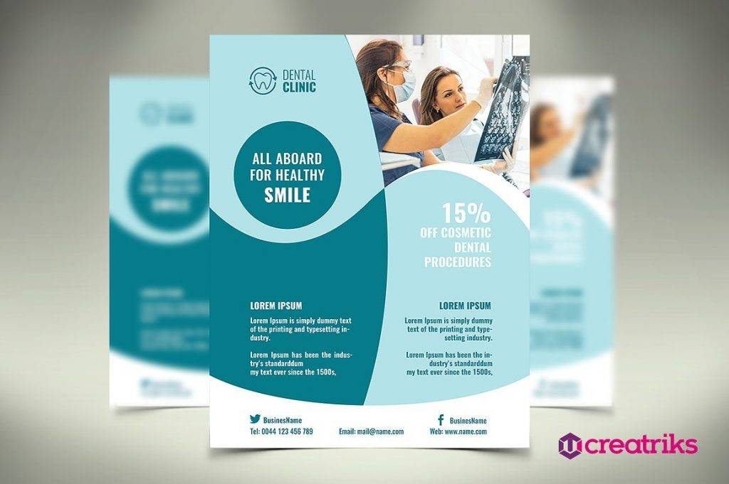 14 Dental Flyer Designs & Examples PSD AI Vector EPS