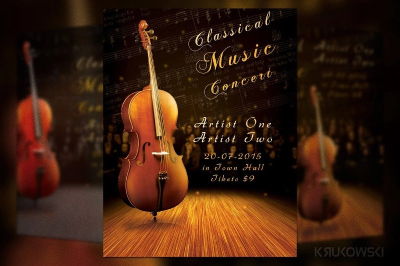 14 Concert Flyer Designs & Examples PSD AI Vector EPS